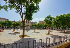 travel plaza de la merced, a cidade de malaga, espanha