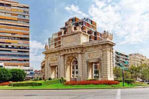 locais históricos da paisagem urbana de valência. foto