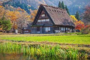 patrimônio mundial, shirakawago, japão foto
