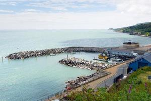 cidade turística da ilha de ventnor na costa sul