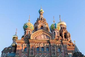 igreja do salvador em sangue derramado em st. Petersburgo foto