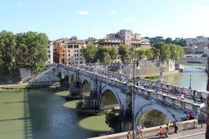 belo panorama de roma, itália foto