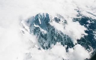 fotografia aérea do mont blanc, alpes, frança