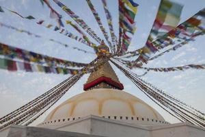 boudhanath buddha stupa em kathmandu, nepal.