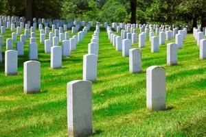 cemitério nacional de arlington va perto de washington dc foto