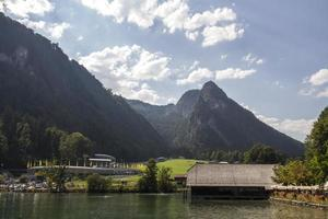 Lago Koenigssee perto de Berchtesgaden, Alemanha, 2015