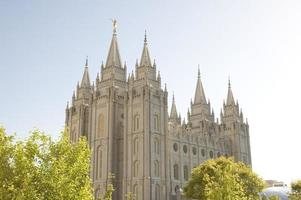 Templo de Salt Lake City Utah da Igreja LDS (mórmons) foto