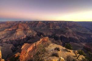 nascer do sol no grande canyon foto