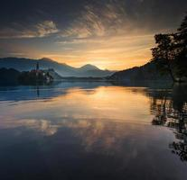 lago sangrado, eslovênia, europa