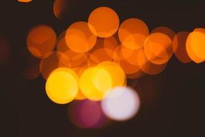 fundo bokeh abstrato com luzes amarelas e vermelhas
