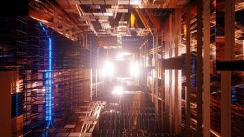 fundo de papel de parede dourado futurista de ficção científica