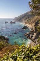 vista para o mar na rodovia no 1, califórnia