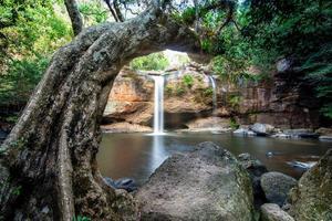 a cachoeira Hew Suwat na Tailândia