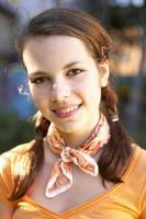 retrato de uma adolescente.