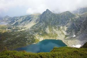 panorama incrível do lago gêmeo