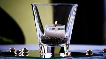 close-up de uma lâmpada de chá foto