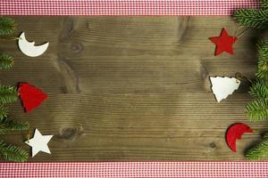 vista superior da decoração de feltro de natal foto