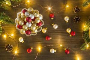 enfeites de natal coloridos foto