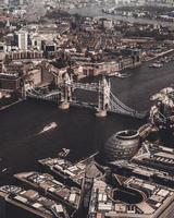 fotografia aérea da ponte de Londres foto
