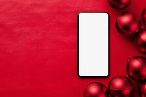 maquete de smartphone de natal foto