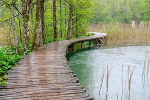 caminho de madeira no lago plitvice