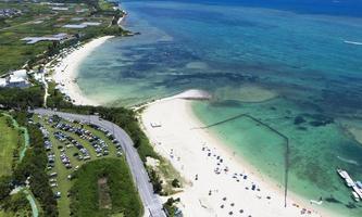 読 谷 Okinawa Island Aerial Shot Yomitan