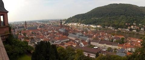 cidade velha de heidelberg e o rio neckar do castelo de heidelberg
