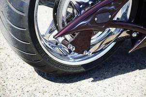 vista frontal da motocicleta - banco de imagens foto