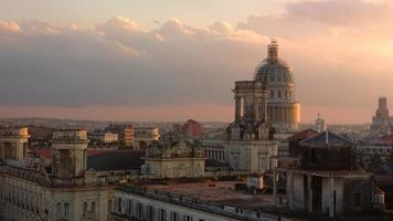 havanna - horizonte e capitólio à noite