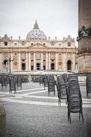 Praça São Pedro no Vaticano Roma Itália foto