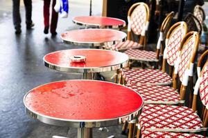 terraço do café parisiense foto