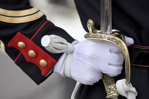 espada da guarda de honra foto