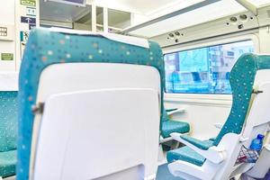 interior do trem de alta velocidade.