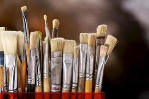 pincéis de artista