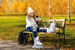 outono patins foto