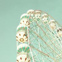 roda gigante de hortelã foto