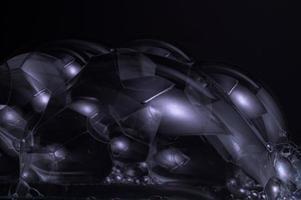 bolhas em fundo preto