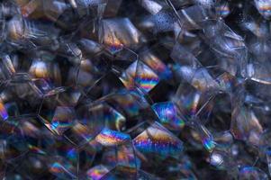 bolhas em fundo preto foto