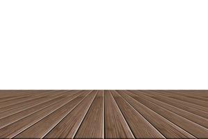 piso de madeira em fundo branco foto