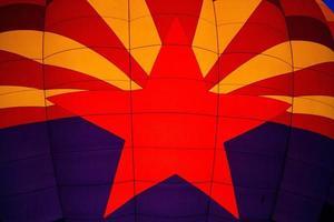 Phoenix, arizona, 2020 - close-up do desenho do balão de ar quente