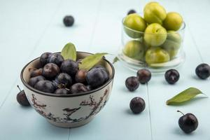 fotografia de alimentos postura plana de frutas foto