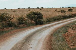 estrada de terra vazia na áfrica