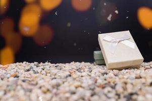 fundo de feliz natal com caixa de presente