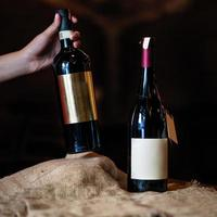 duas garrafas de vinho foto