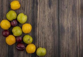 vista superior do padrão de frutas