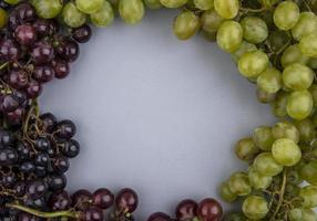 vista superior de uvas em formato redondo