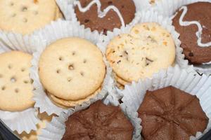 vista superior de cookies