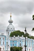catedral smolnyi (convento smolny) st. petersburg.russia foto
