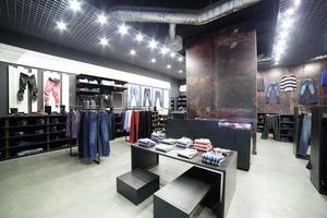 novo interior da loja de tecidos
