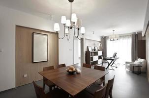 interior de casa elegante e confortável, sala de jantar foto